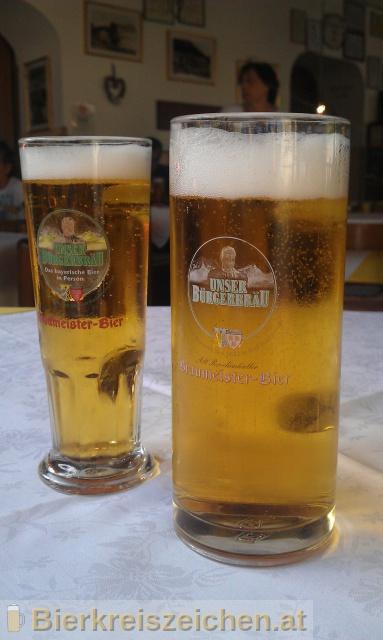 Foto eines Bieres der Marke Alt-Reichenhaller Braumeister-Bier aus der Brauerei Bürgerbräu