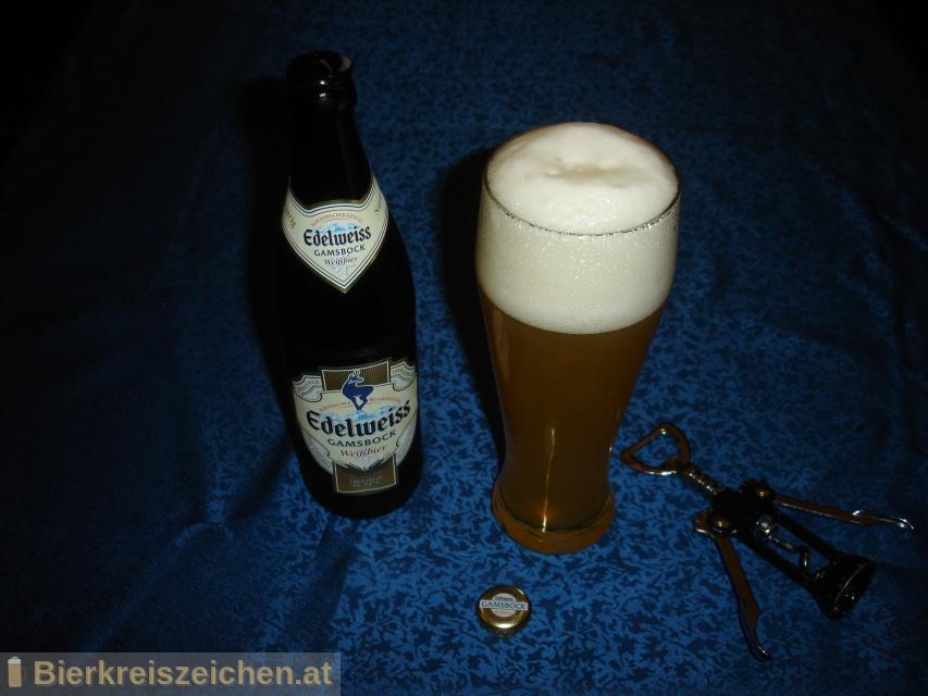 Foto eines Bieres der Marke Edelweiss Gamsbock aus der Brauerei Brau Union