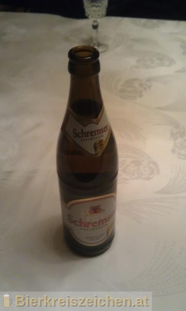 Foto eines Bieres der Marke Schremser Märzen aus der Brauerei Brauerei Schrems