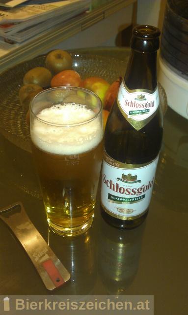 Foto eines Bieres der Marke Schlossgold aus der Brauerei Brau Union