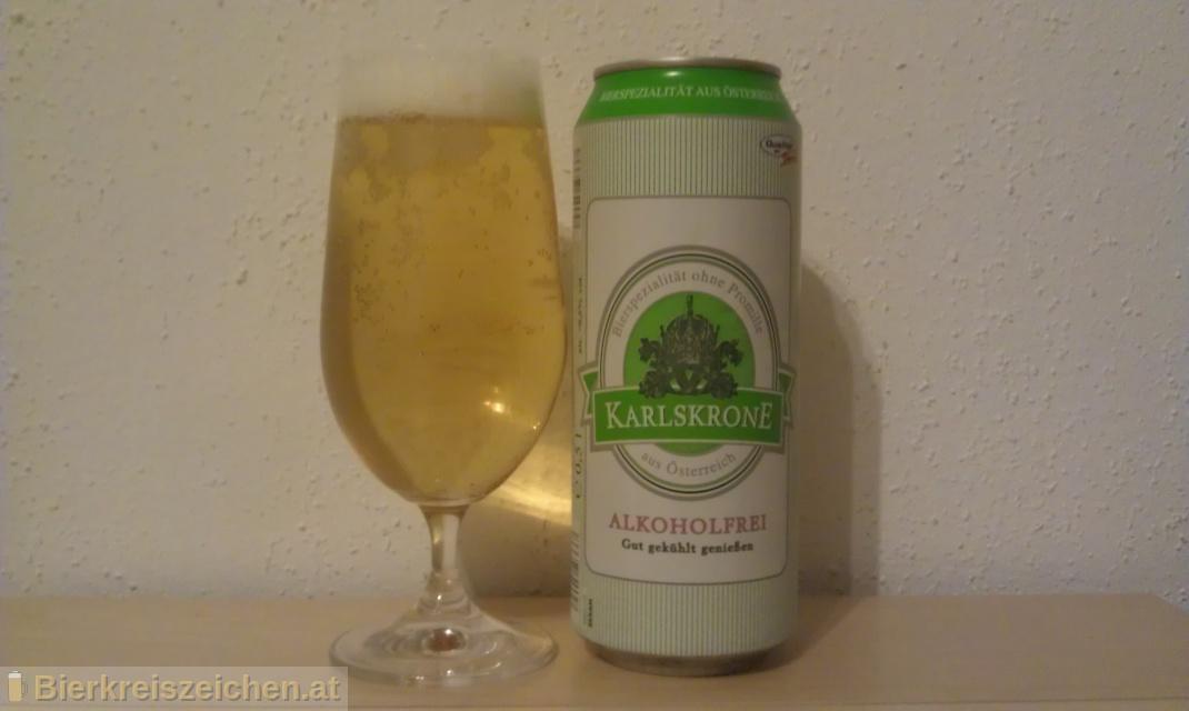 Foto eines Bieres der Marke Karlskrone Alkoholfrei aus der Brauerei Perfect Drinks