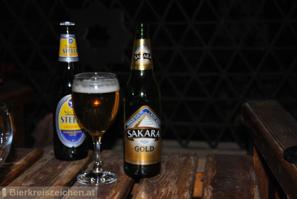 Foto eines Bieres der Marke Sakara Gold aus der Brauerei Al Ahram Beverages Company
