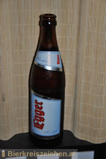Foto eines Bieres der Marke Egger Leicht aus der Brauerei Privatbrauerei Egger