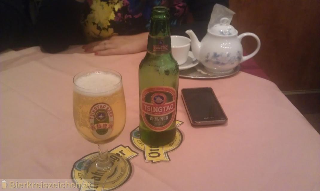 Foto eines Bieres der Marke Tsingtao Beer aus der Brauerei Tsingtao Brewery Co, Ltd.
