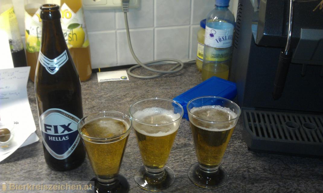 Foto eines Bieres der Marke FIX Hellas aus der Brauerei Olympic Brewery