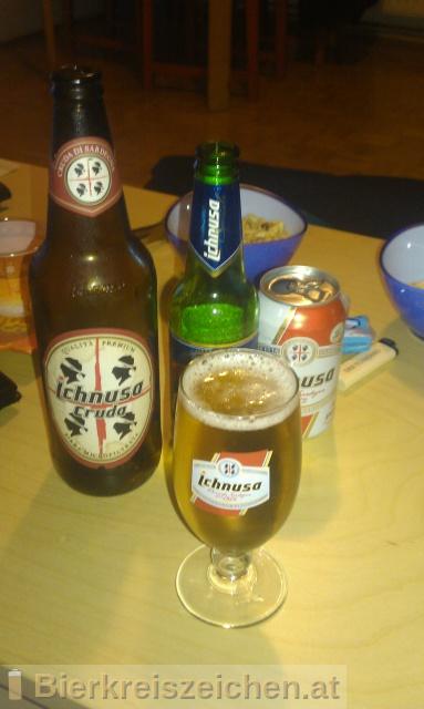Foto eines Bieres der Marke Birra Ichnusa Cruda aus der Brauerei Birra Ichnusa