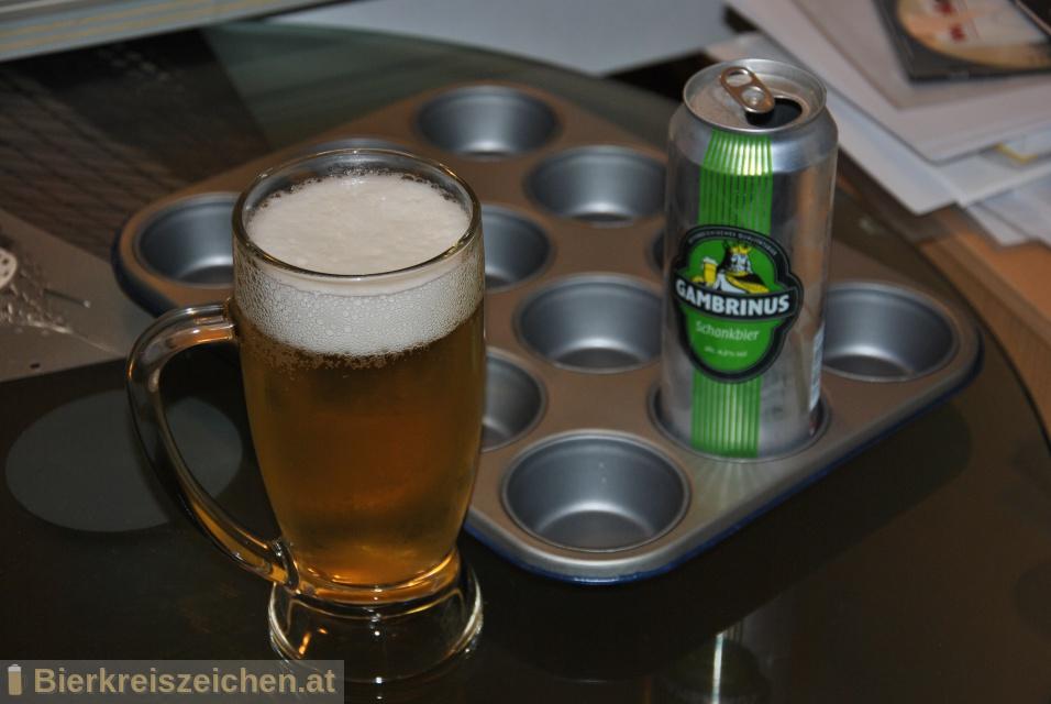 Foto eines Bieres der Marke Gambrinus - Schankbier aus der Brauerei Sörvis GmbH