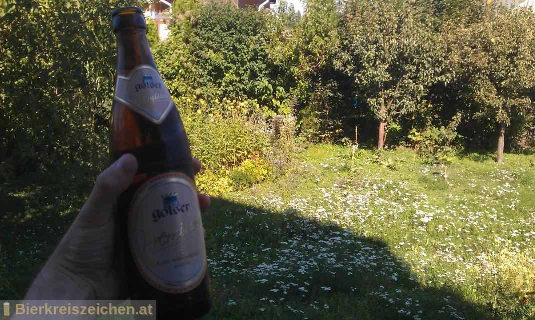 Foto eines Bieres der Marke Golser Premium aus der Brauerei Pannonia Brauerei Gols