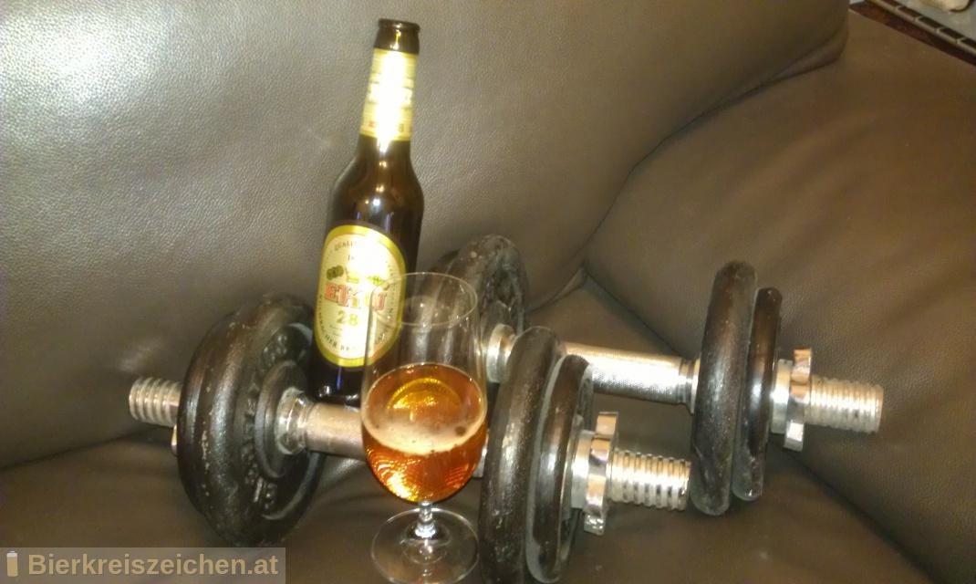 Foto eines Bieres der Marke EKU 28 aus der Brauerei Kulmbacher Brauerei