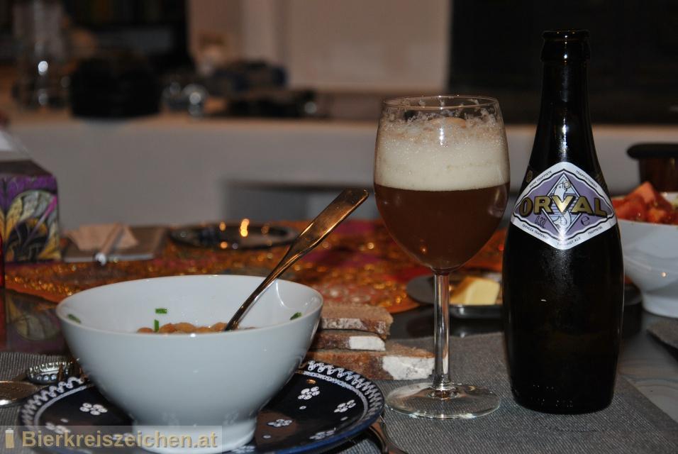 Foto eines Bieres der Marke Orval aus der Brauerei Brasserie d'Orval