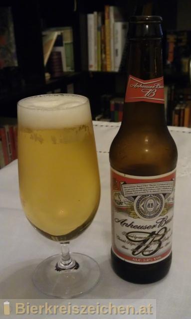 Foto eines Bieres der Marke Anheuser-Busch - Budweiser aus der Brauerei Anheuser-Busch