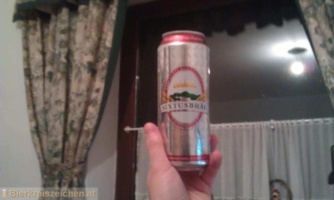 Foto eines Bieres der Marke Sixtusbräu aus der Brauerei Hofer