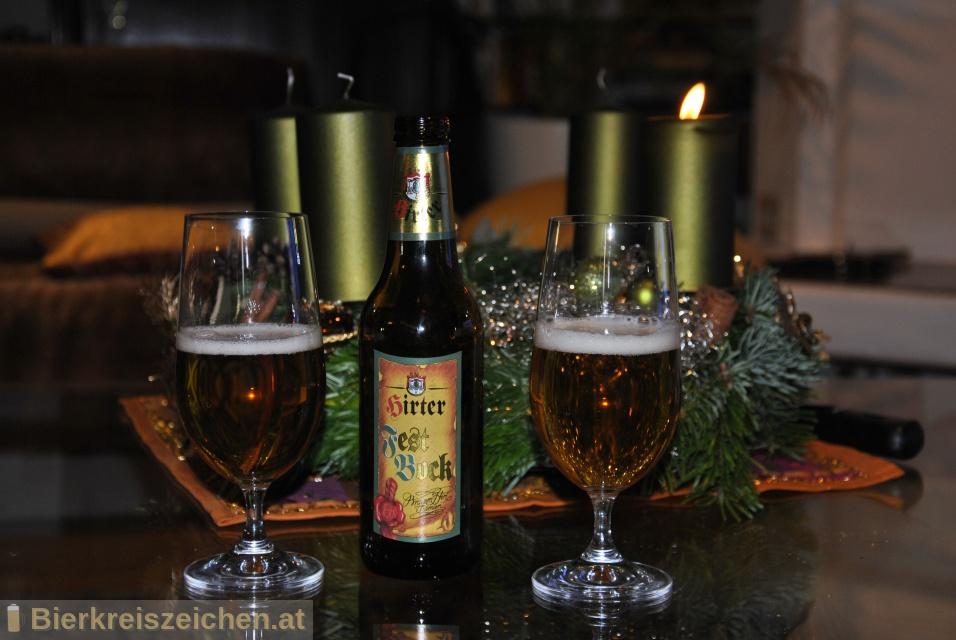 Foto eines Bieres der Marke Hirter Festbock aus der Brauerei Brauerei Hirt
