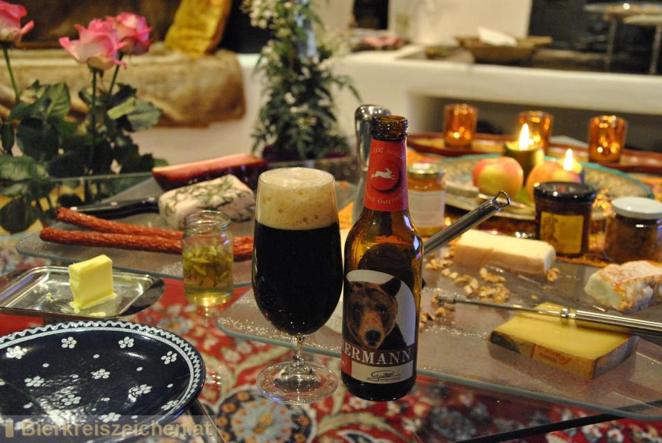 Foto eines Bieres der Marke Hermann aus der Brauerei Brauerei Gratzer