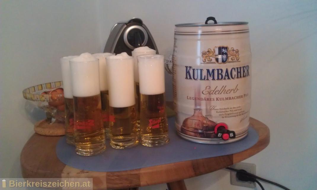 Foto eines Bieres der Marke Kulmbacher Edelherb aus der Brauerei Kulmbacher Brauerei