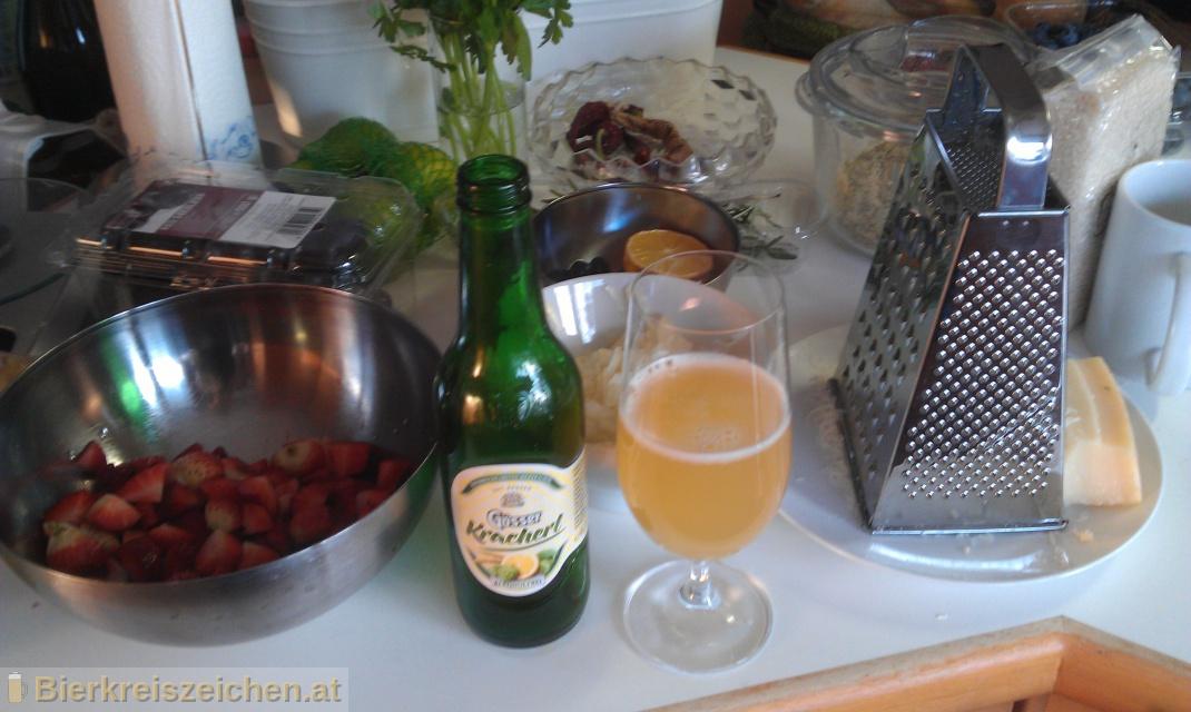 Foto eines Bieres der Marke Gösser Kracherl aus der Brauerei Brauerei Göss