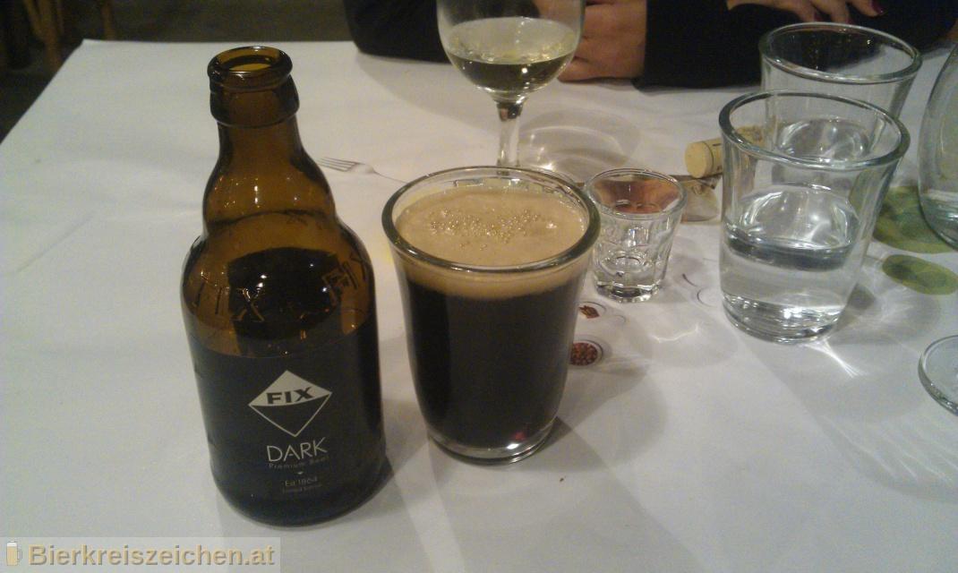 Foto eines Bieres der Marke FIX Dark aus der Brauerei Olympic Brewery