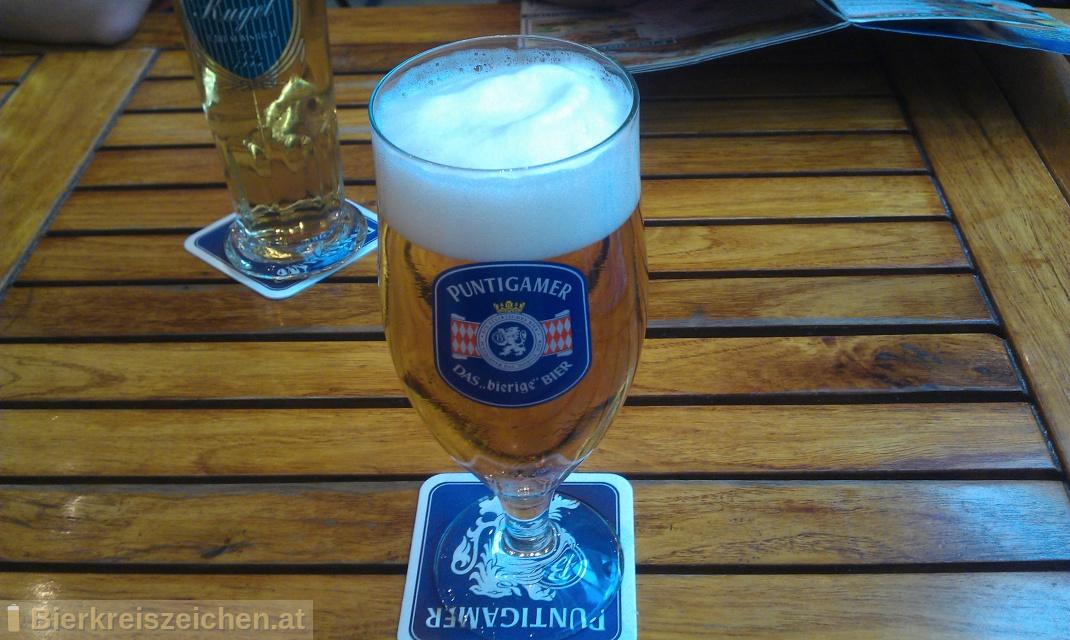 Foto eines Bieres der Marke Puntigamer - das bierige Bier aus der Brauerei Brauerei Puntigam