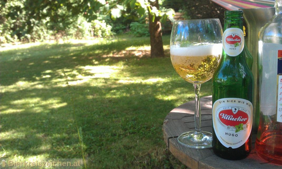 Foto eines Bieres der Marke Villacher Hugo aus der Brauerei Villacher Brauerei