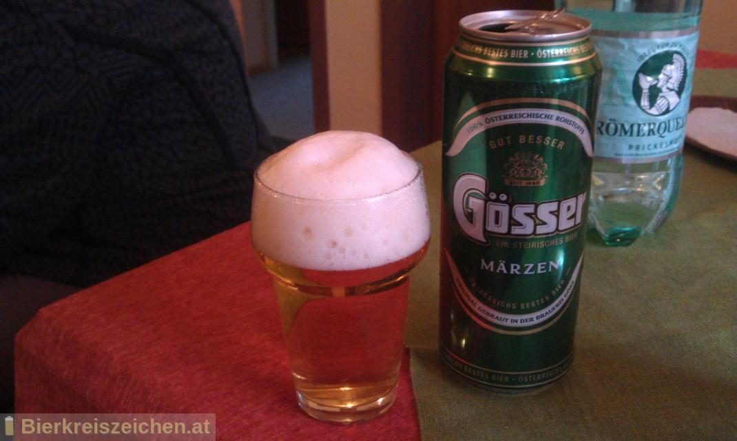 Foto eines Bieres der Marke Gösser Märzen aus der Brauerei Brauerei Göss