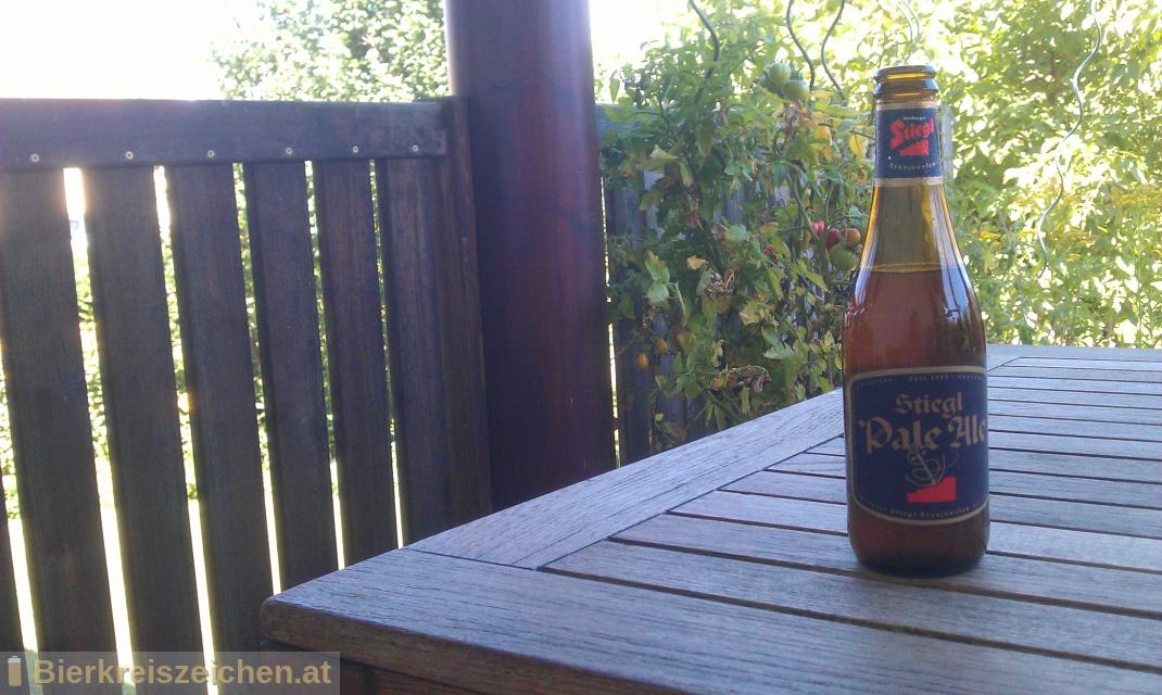 Foto eines Bieres der Marke Stiegl Pale Ale aus der Brauerei Stieglbrauerei