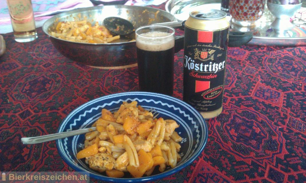 Foto eines Bieres der Marke Köstritzer Schwarzbier aus der Brauerei Köstritzer Schwarzbierbrauerei GmbH