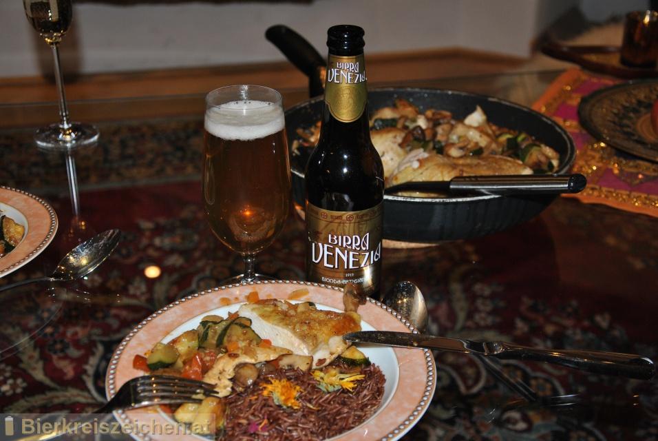 Foto eines Bieres der Marke  Birra Venezia Bionda - Lager aus der Brauerei Birra Venezia
