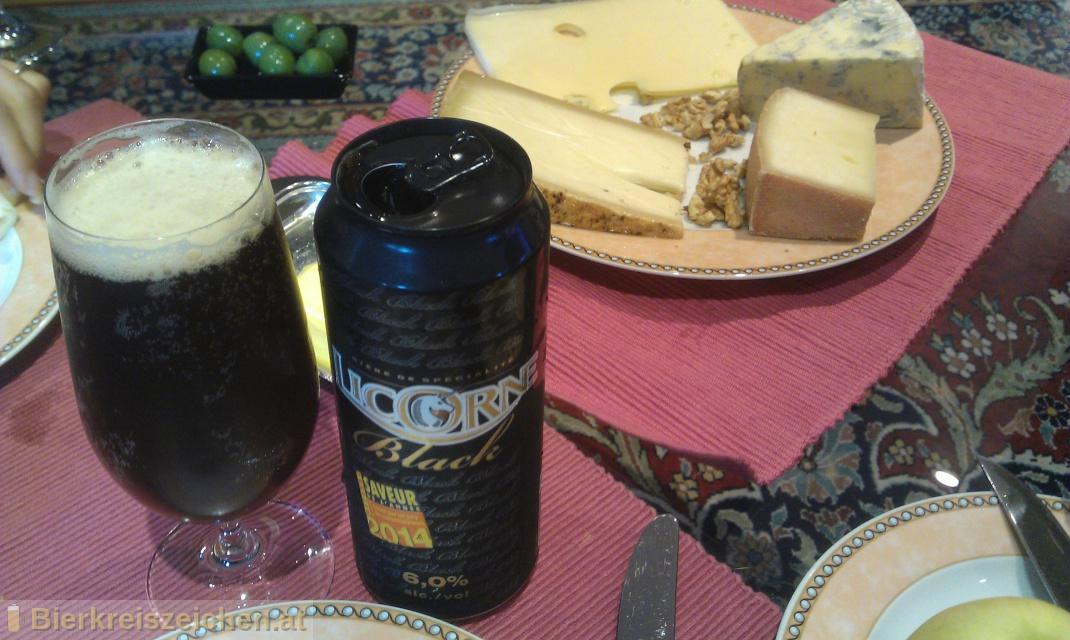 Foto eines Bieres der Marke Licorne Black aus der Brauerei Brasserie Licorne