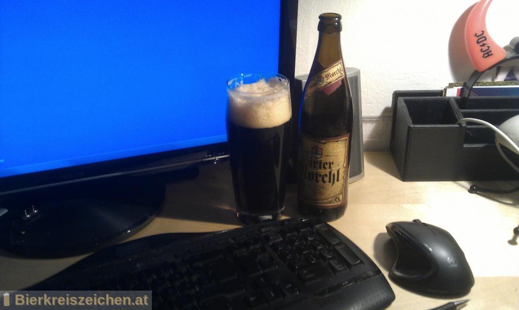 Foto eines Bieres der Marke Hirter Morchl aus der Brauerei Brauerei Hirt