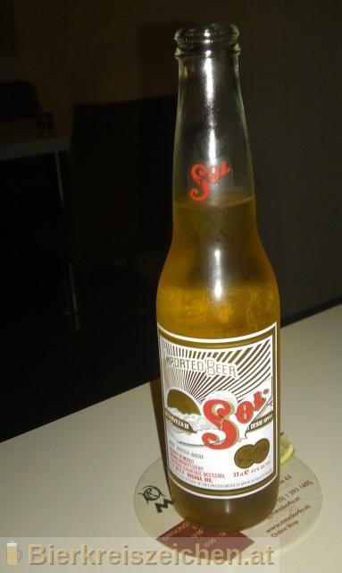 Foto eines Bieres der Marke Sol aus der Brauerei Cervecería Cuauhtémoc-Moctezuma