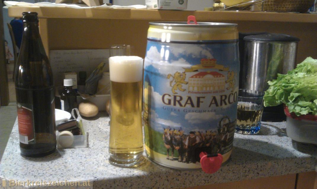 Foto eines Bieres der Marke Arcobräu Weissbier Hell aus der Brauerei Graf Arco