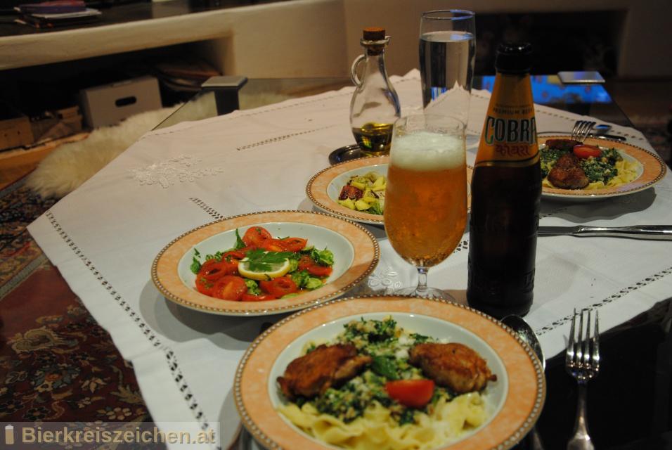 Foto eines Bieres der Marke Cobra Premium Beer aus der Brauerei Cobra Indian Beer Pvt. Ltd.