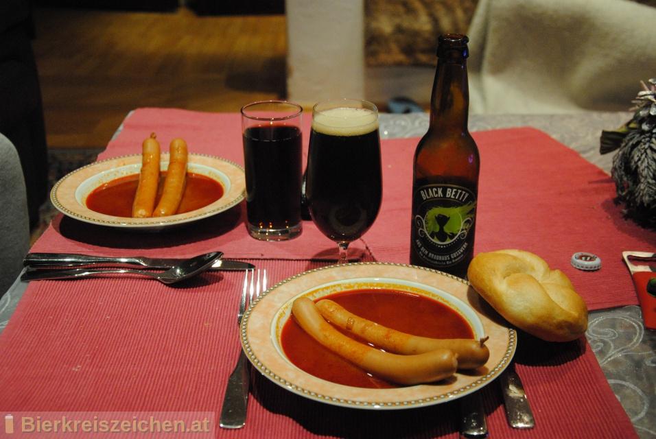 Foto eines Bieres der Marke Black Betty aus der Brauerei Brauerei Gusswerk