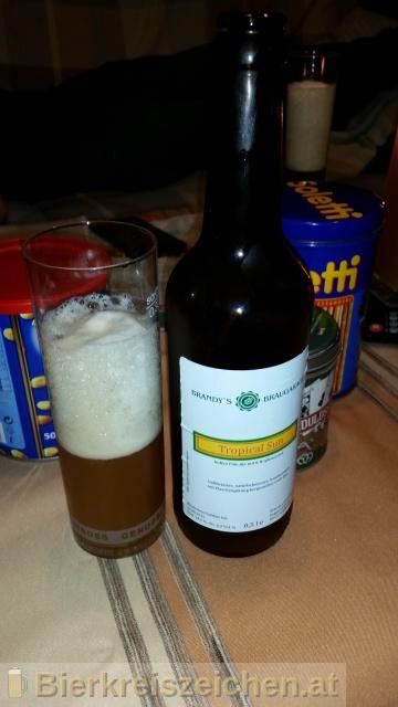 Foto eines Bieres der Marke Tropical Sun aus der Brauerei Brandy's BrauGarage