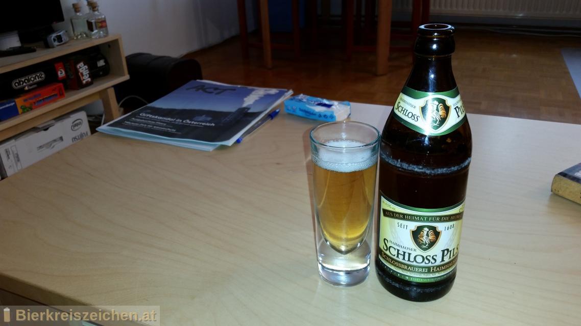 Foto eines Bieres der Marke Schloss-Pils aus der Brauerei Schloßbrauerei Haimhausen