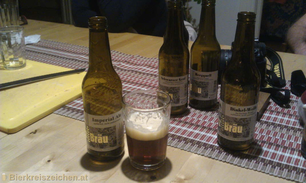 Foto eines Bieres der Marke Erzbräu Imperial Ale aus der Brauerei Bruckners Erzbräu