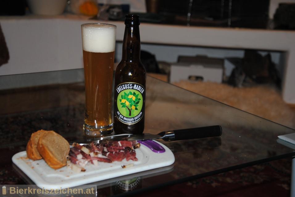 Foto eines Bieres der Marke Edelguss-Radler aus der Brauerei Brauerei Gusswerk