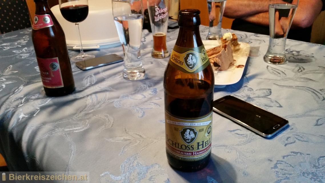 Foto eines Bieres der Marke Schloss-Hell aus der Brauerei Schloßbrauerei Haimhausen