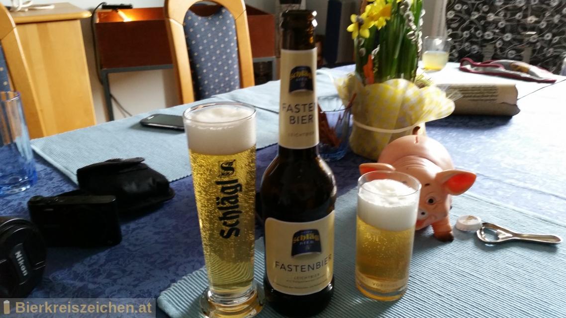 Foto eines Bieres der Marke Schlägl Fastenbier aus der Brauerei Stiftsbrauerei Schlägl