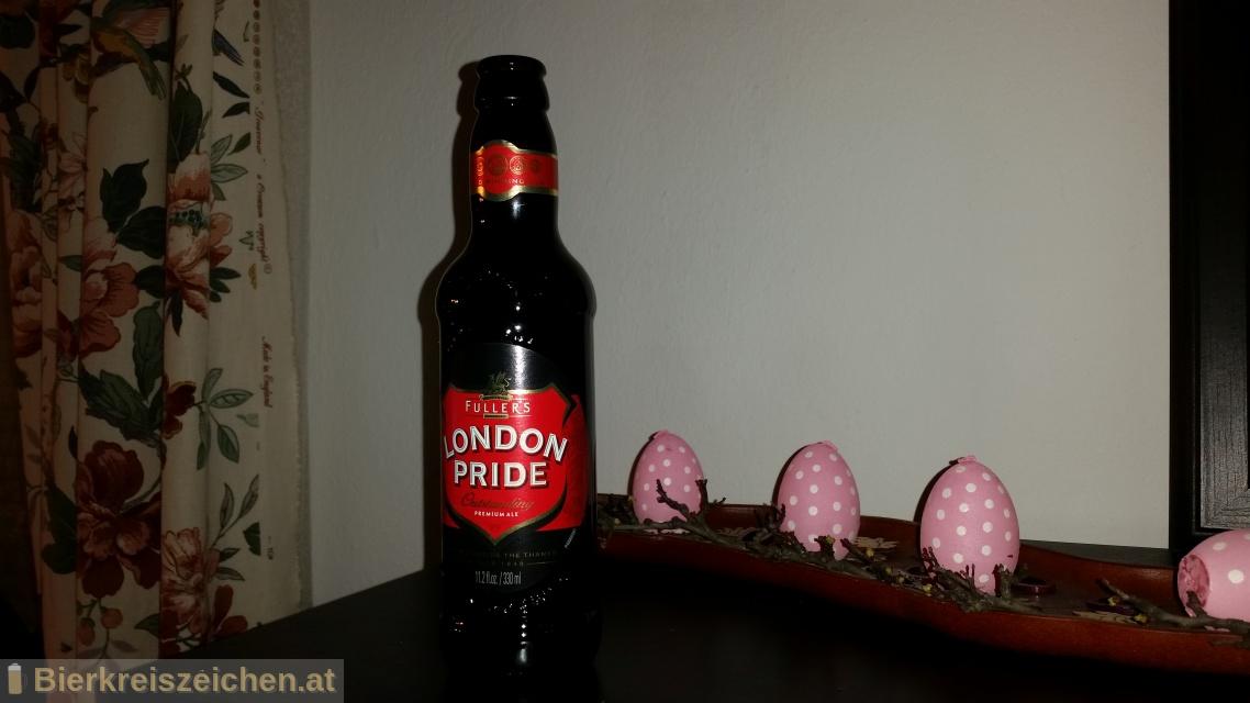 Foto eines Bieres der Marke London Pride aus der Brauerei Fuller's Brewery