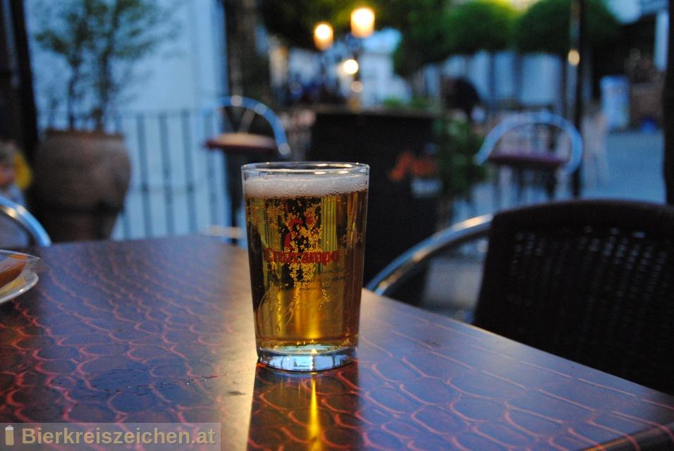 Foto eines Bieres der Marke Cruzcampo aus der Brauerei Cruzcampo