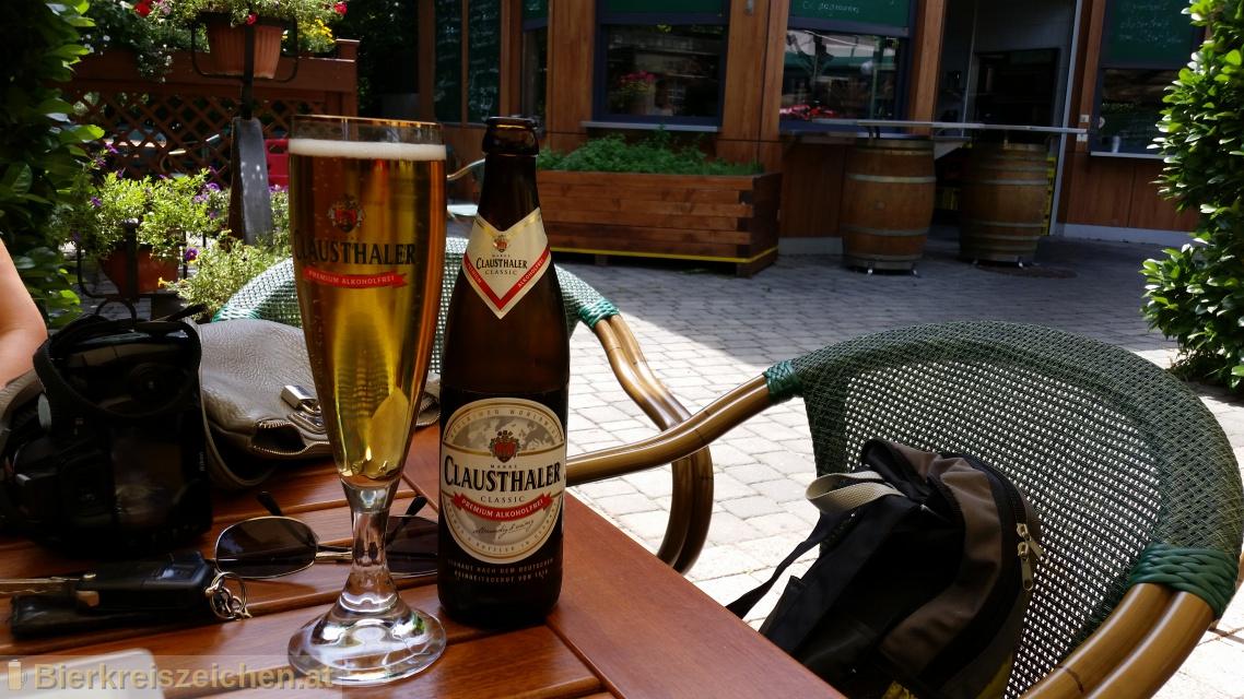 Foto eines Bieres der Marke Clausthaler Original aus der Brauerei Binding-Brauerei