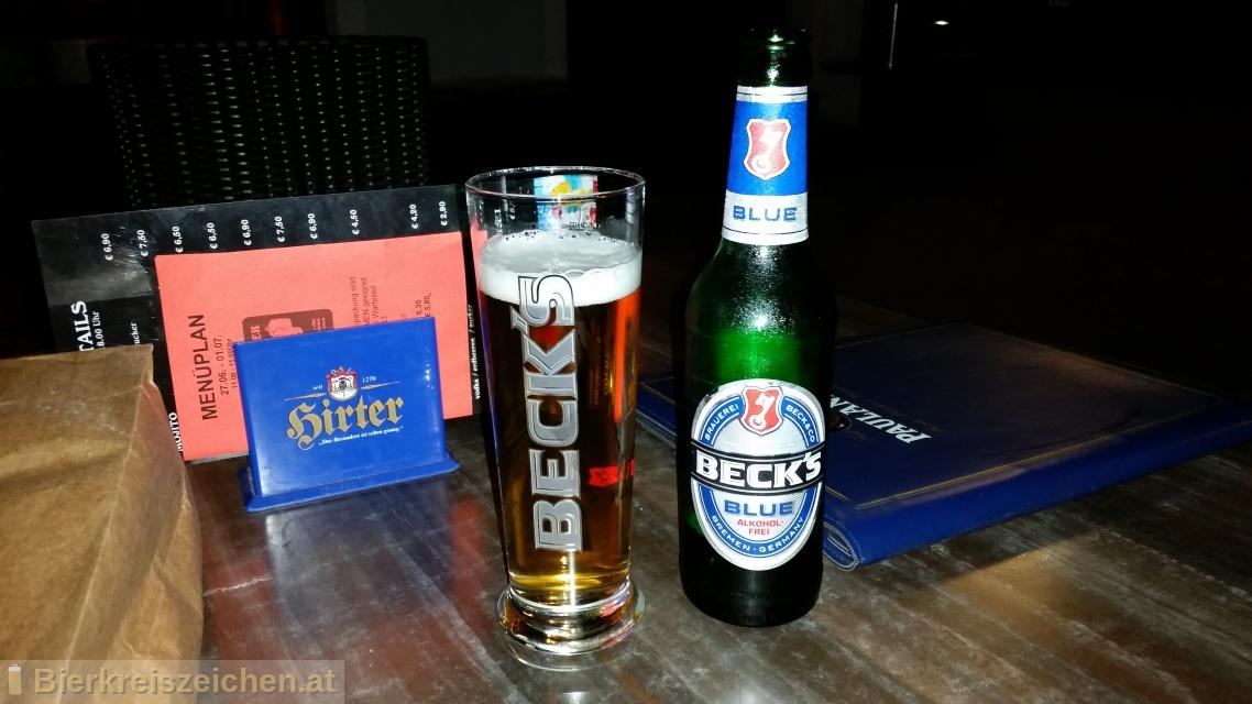 Foto eines Bieres der Marke Beck's Blue aus der Brauerei Brauerei Beck