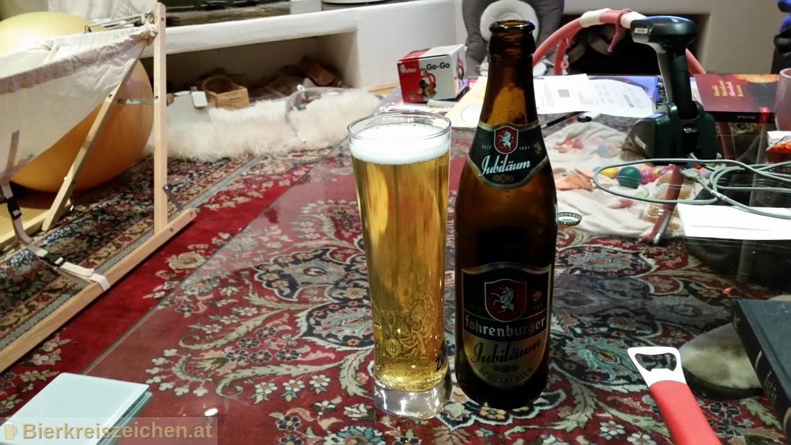 Foto eines Bieres der Marke Fohrenburger Jubiläum aus der Brauerei Fohrenburger