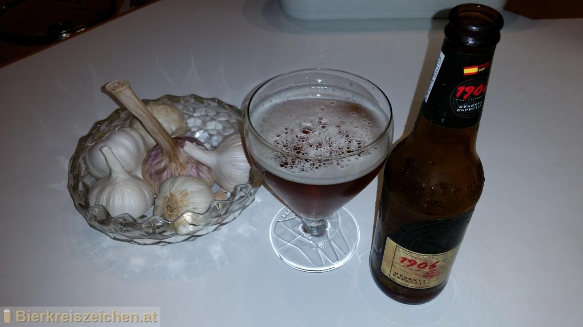 Foto eines Bieres der Marke Estrella Galicia Reserva Especial 1906 aus der Brauerei Hijos de Rivera, S.A.