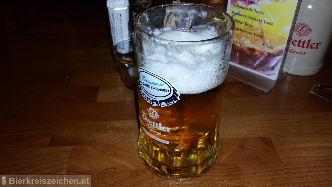 Foto eines Bieres der Marke Brandauers Hausbier aus der Brauerei Privatbrauerei Zwettl