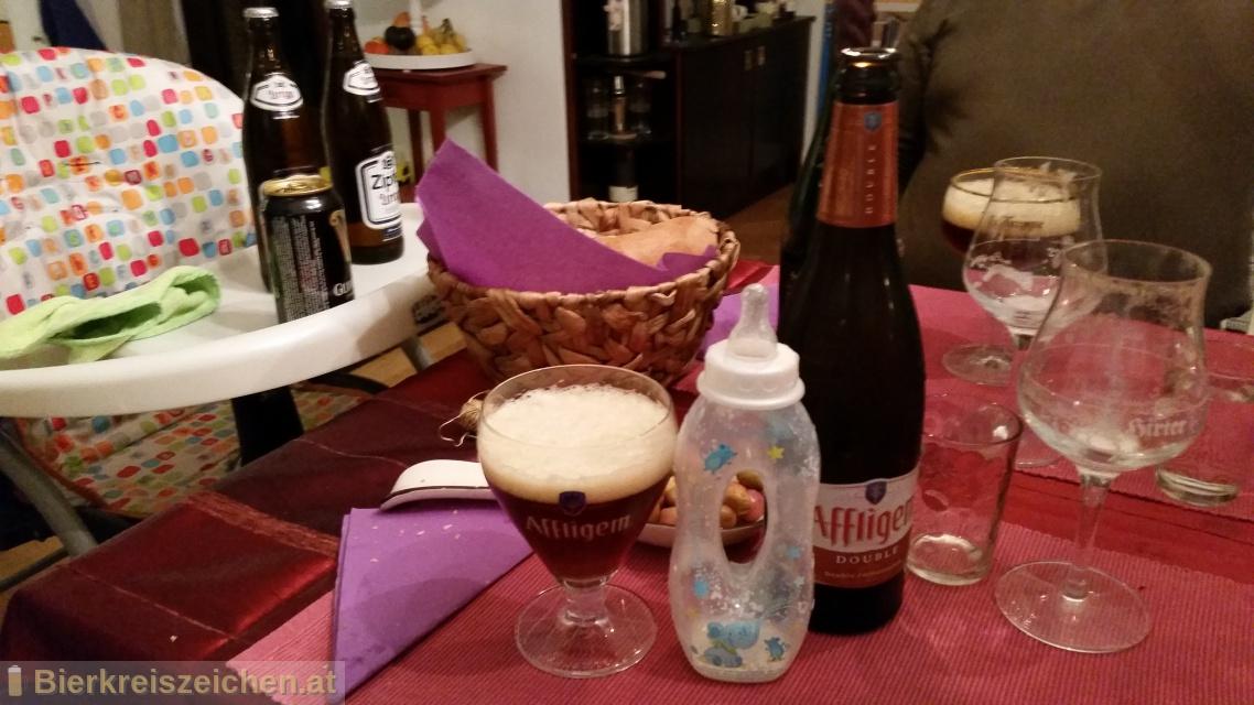 Foto eines Bieres der Marke Affligem Dubbel aus der Brauerei Affligem Brouwerij bds