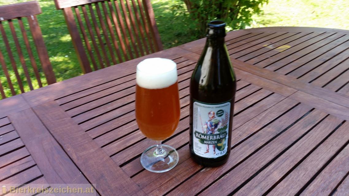 Foto eines Bieres der Marke Römerbräu Märzen aus der Brauerei Römerbräu
