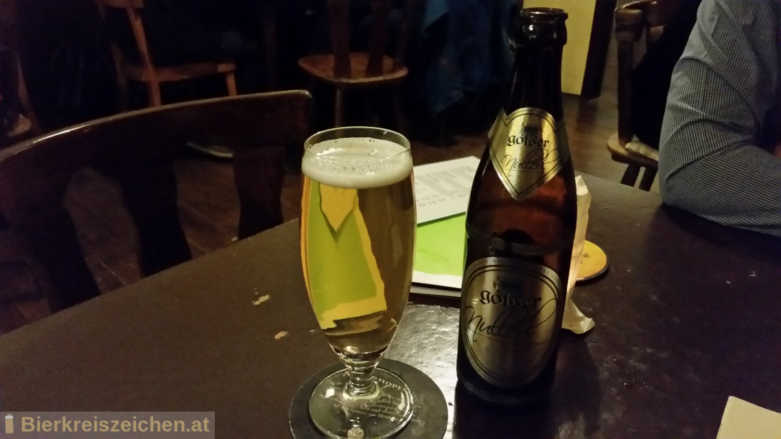 Foto eines Bieres der Marke Golser Nullerl aus der Brauerei Pannonia Brauerei Gols
