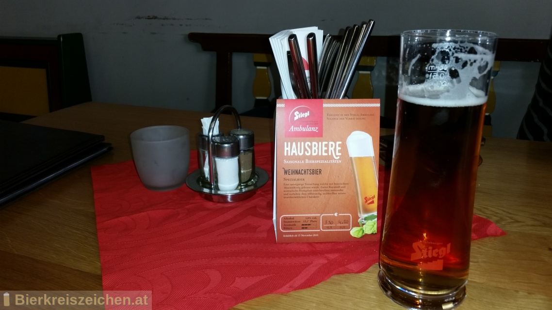 Foto eines Bieres der Marke Stiegl Weihnachtsbier aus der Brauerei Stieglbrauerei